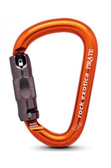 Pirate - Karabiner orange | Automatik-Lock