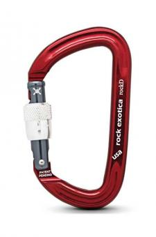 rockD - Karabiner red | Screw-Lock