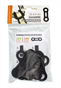 RUBBER-FIX 206 (VE10) - Fixierung 16mm Schlingen