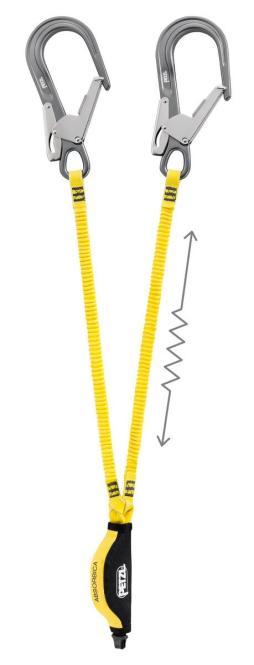 Absorbica Y - Verbindungsmittel mit integriertem Falldämpfer 175cm   MGO