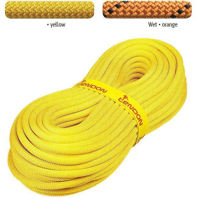 Canyonseil 10mm - Statikseil 80m | gelb schwimmend