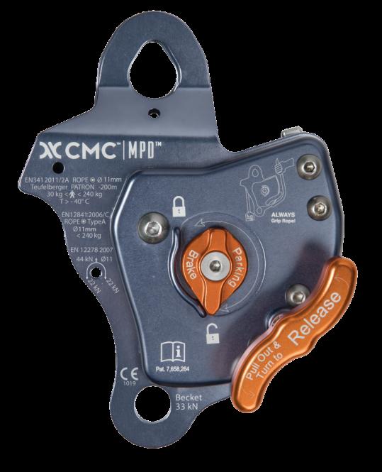 CMC Rescue MPD 11mm - Abseilgerät / Sicherungsgerät / Umlenkrolle 44 kN