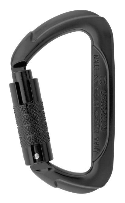 D Connector - Karabiner Tri-Lock   schwarz