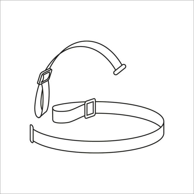 Elastisches Kopfband für Stirnlampen - 25mm