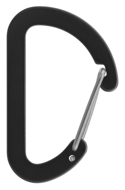 Flat D Micro 4 - Zubehörkarabiner schwarz
