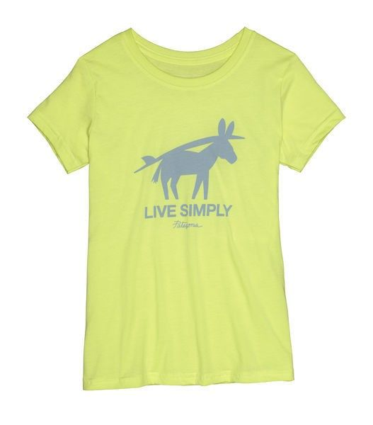 Girl´s Live Simply Burros Y Tablas T-Shirt