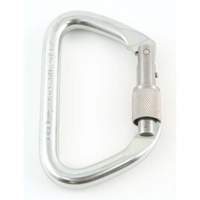 Large Locking D Steel Carabiner - Karabiner