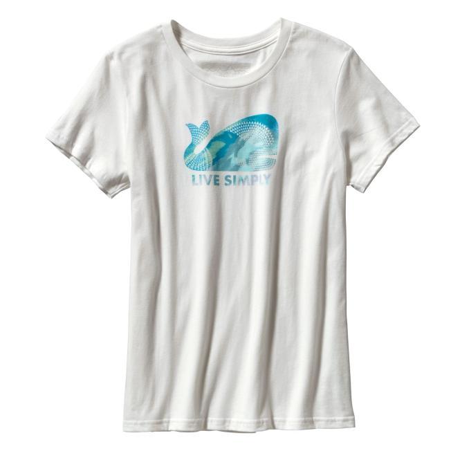 Live simply Geometric Whale - T-Shirt