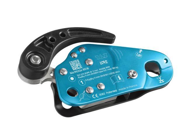 LOV2 - Abseilgerät/mitl. Auffanggerät cyan