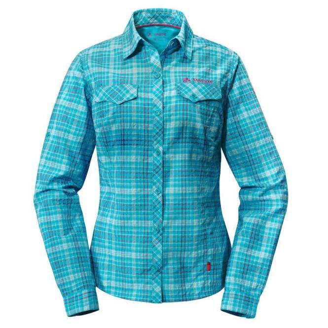 Mellon LS Shirt - Bluse cyan | Größe 42