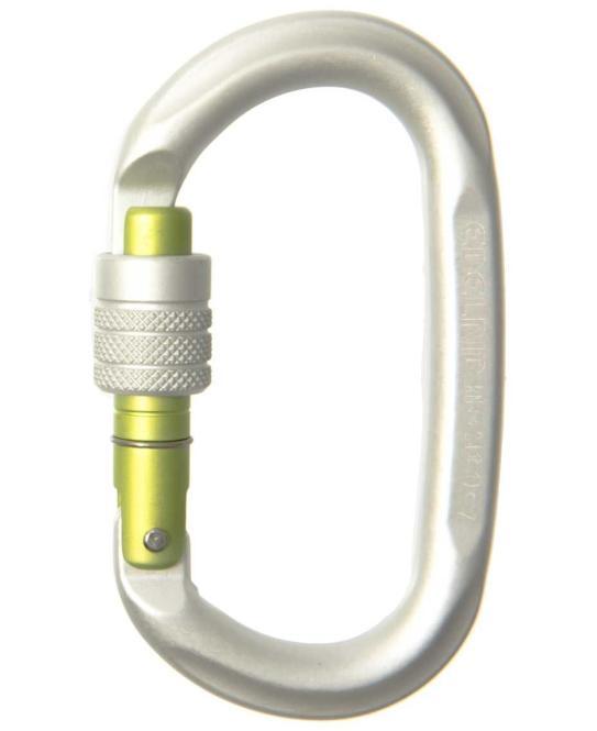Oval Power 2400 - Karabiner silver | Screw-Lock