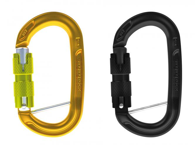 OXY BC - Oval Aluminium - Karabiner Twist-Lock | schwarz