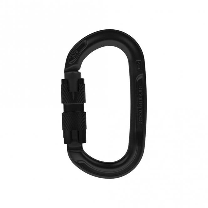 OXY (Oval Aluminium) - Karabiner Twist-Lock | schwarz