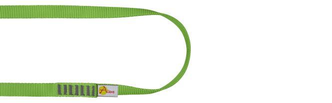 Polyamid Open Sling 16mm - Rundschlinge / Bandschlinge 30cm | grün