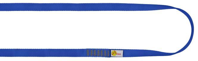 Polyamid Open Sling 16mm - Rundschlinge / Bandschlinge 80cm   blau