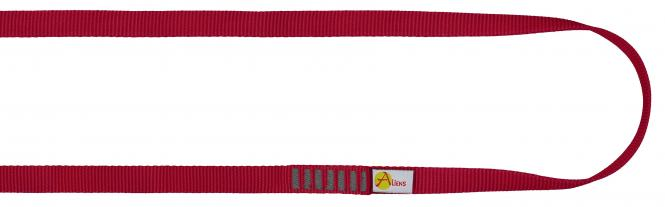 Polyamid Open Sling 16mm - Rundschlinge / Bandschlinge 120cm | rot