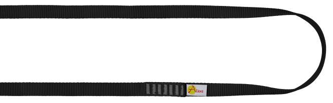 Polyamid Open Sling 16mm - Rundschlinge / Bandschlinge 150cm | schwarz