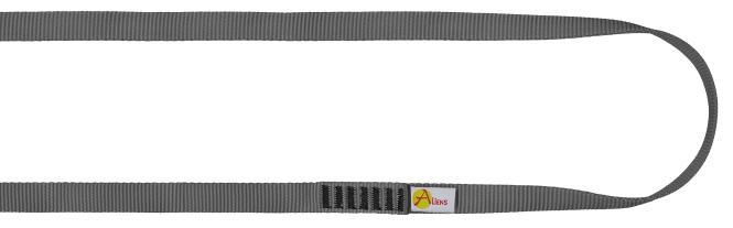 Polyamid Open Sling 16mm - Rundschlinge / Bandschlinge 240cm | grau