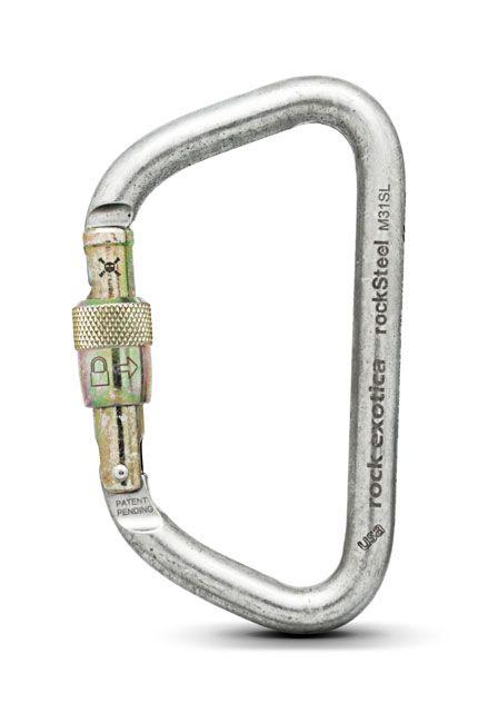 rockSteel - Karabiner clear | Screw-Lock
