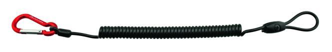 Spiralkabel 4mm (Materialkarabiner & Schlaufe) - Materialsicherung