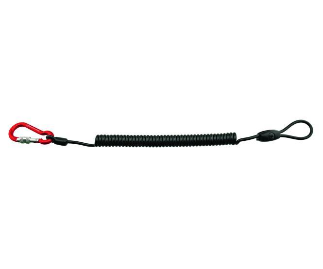 Spiralkabel 4mm (Mini Screw & Schlaufe) - Materialsicherung