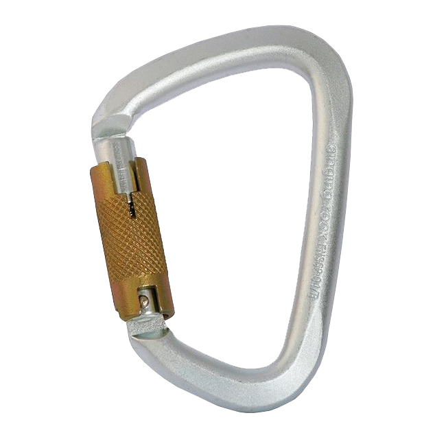 "Stahlkarabiner ""D"" - Karabiner Triact-Lock"