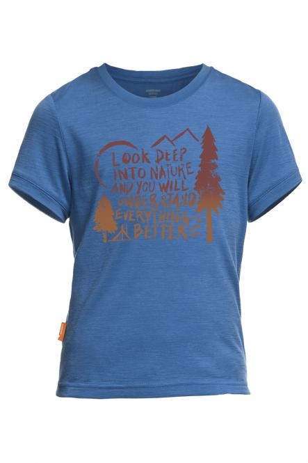 Tech Lite SS Camp - T-Shirt Petrol   5-6 Jahre