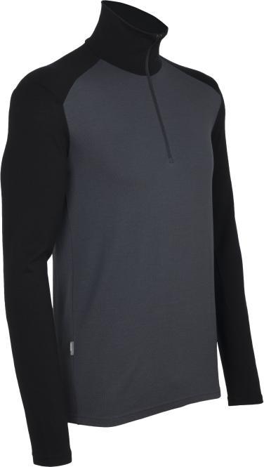 Tech Top Long Sleeve Half Zip - Funktionsshirt Monsoon/Black | Größe M