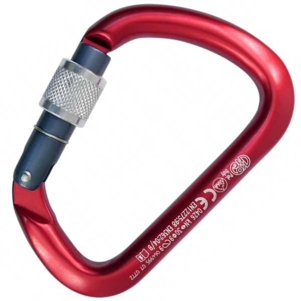 X-LARGE ALU - Karabiner eloxiert | Screw-Lock